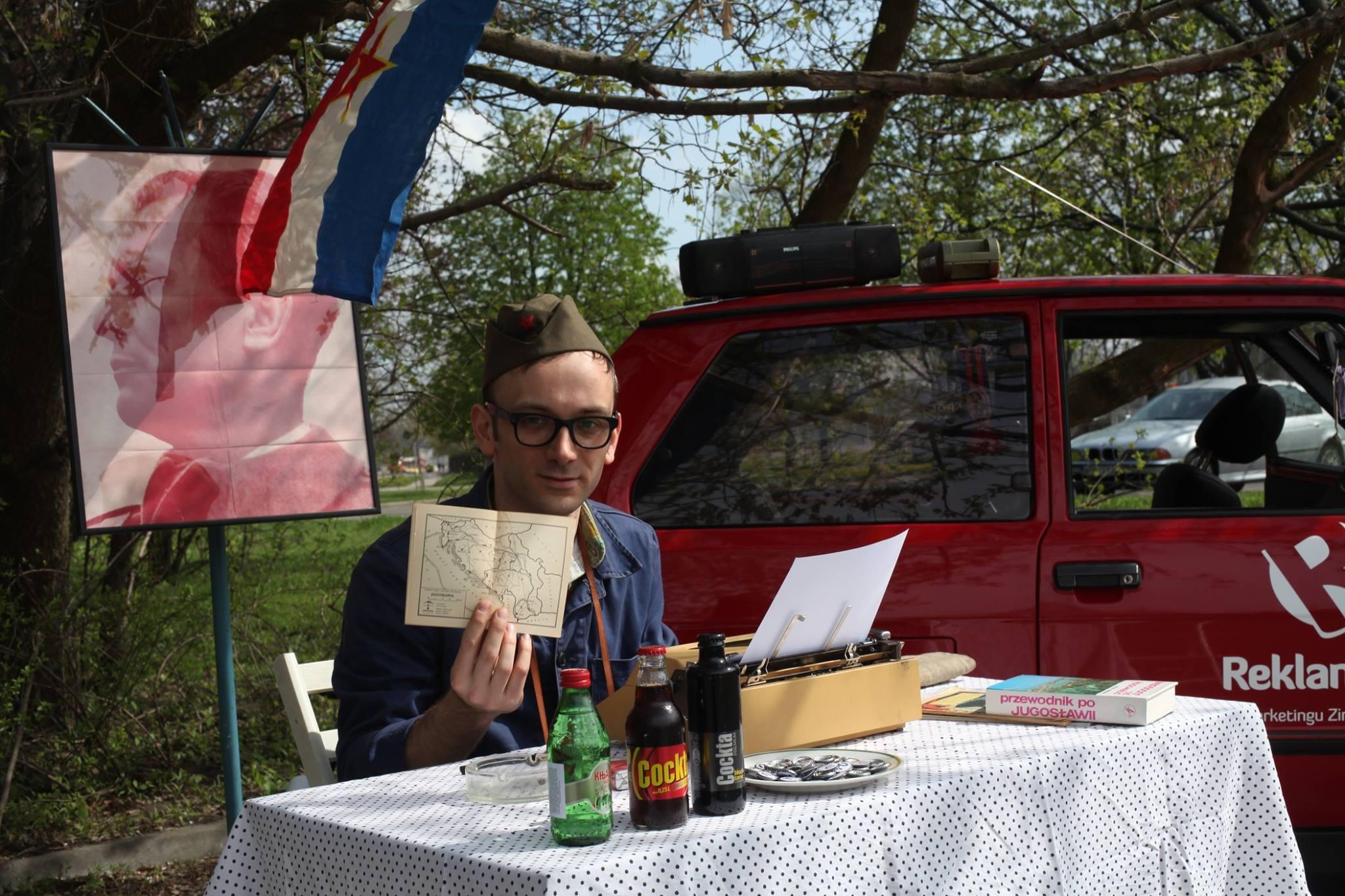 Aleksandar Ćirlić podczas zlotu w Pruszkowie (www.facebook.com/madeinyugoslaviafilm)