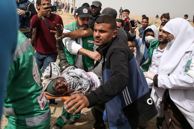 Dramatyczne sceny w Strefie Gazy/AFP