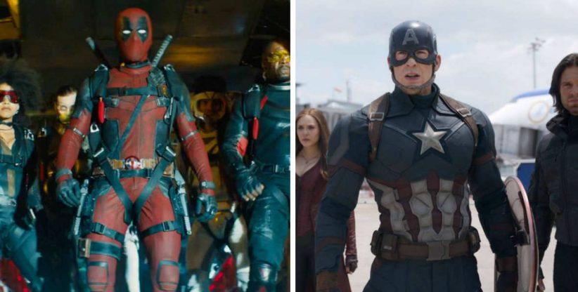 foto: kadry z filmów Deadpool 2 i Kapitan Ameryka: Wojna Bohaterów