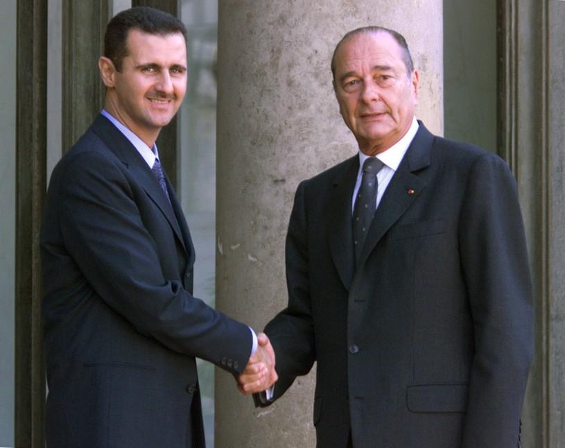 Baszar el-Asad, Jacques Chirac/JACK GUEZ /AFP